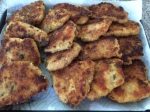 Platter of Breaded Chicken Cutlets