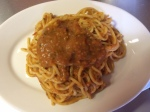 Picture of spaghetti with fresh roasted tomato sauce